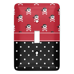 Girl's Pirate & Dots Light Switch Covers - Multiple Toggle Options Available (Personalized)