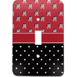 Girl's Pirate & Dots Light Switch Cover (Single Toggle) (Personalized)
