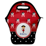 Girl's Pirate & Dots Lunch Bag w/ Name or Text