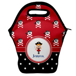 Girl's Pirate & Dots Lunch Bag (Personalized)