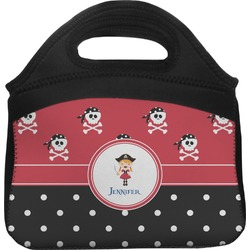 Girl's Pirate & Dots Lunch Tote (Personalized)
