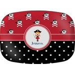 Girl's Pirate & Dots Melamine Platter (Personalized)