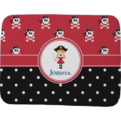 "Girl's Pirate & Dots Memory Foam Bath Mat - 48""x36"" (Personalized)"