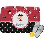 Girl's Pirate & Dots Memory Foam Bath Mat (Personalized)