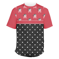 Girl's Pirate & Dots Men's Crew T-Shirt (Personalized)