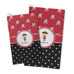 Girl's Pirate & Dots Microfiber Golf Towel (Personalized)