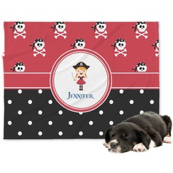Girl's Pirate & Dots Dog Blanket (Personalized)