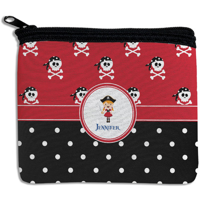 Girl's Pirate & Dots Rectangular Coin Purse (Personalized)