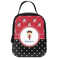 Girl's Pirate & Dots Neoprene Lunch Tote (Personalized)