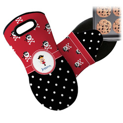 Girl's Pirate & Dots Neoprene Oven Mitt (Personalized)