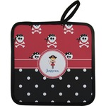 Girl's Pirate & Dots Pot Holder w/ Name or Text