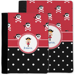 Girl's Pirate & Dots Notebook Padfolio w/ Name or Text