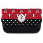 Girl's Pirate & Dots Canvas Pencil Case w/ Name or Text