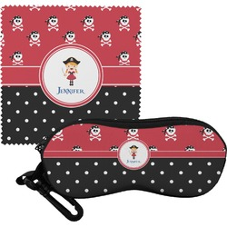 Girl's Pirate & Dots Eyeglass Case & Cloth (Personalized)