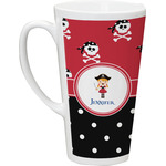 Girl's Pirate & Dots Latte Mug (Personalized)