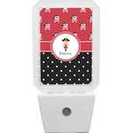 Girl's Pirate & Dots Night Light (Personalized)