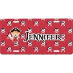 Girl's Pirate & Dots Front License Plate (Personalized)