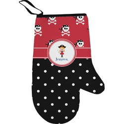 Girl's Pirate & Dots Oven Mitt (Personalized)