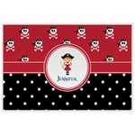 Girl's Pirate & Dots Laminated Placemat w/ Name or Text
