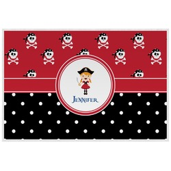 Girl's Pirate & Dots Placemat (Laminated) (Personalized)