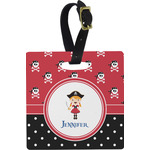 Girl's Pirate & Dots Luggage Tags (Personalized)
