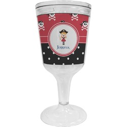 Girl's Pirate & Dots Wine Tumbler (Personalized)