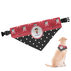 Girl's Pirate & Dots Dog Bandana (Personalized)