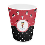 Girl's Pirate & Dots Plastic Tumbler 6oz (Personalized)