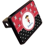 Girl's Pirate & Dots Rectangular Trailer Hitch Cover - 2