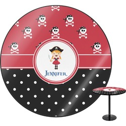 Girl's Pirate & Dots Round Table (Personalized)