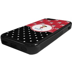Girl's Pirate & Dots Rubber iPhone 5C Phone Case (Personalized)