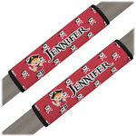 Girl's Pirate & Dots Seat Belt Covers (Set of 2) (Personalized)