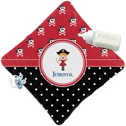 Girl's Pirate & Dots Security Blanket (Personalized)