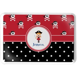 Girl's Pirate & Dots Serving Tray (Personalized)