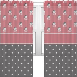 Girl's Pirate & Dots Sheer Curtains (Personalized)