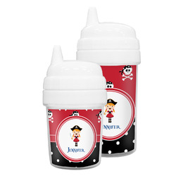 Girl's Pirate & Dots Sippy Cup (Personalized)