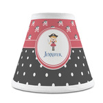 Girl's Pirate & Dots Chandelier Lamp Shade (Personalized)