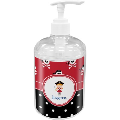 Girl's Pirate & Dots Acrylic Soap & Lotion Bottle (Personalized)