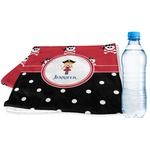 Girl's Pirate & Dots Sports & Fitness Towel (Personalized)