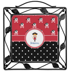 Girl's Pirate & Dots Trivet (Personalized)