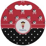Girl's Pirate & Dots Stadium Cushion (Round) (Personalized)