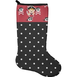 Girl's Pirate & Dots Christmas Stocking - Neoprene (Personalized)