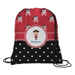 Girl's Pirate & Dots Drawstring Backpack (Personalized)