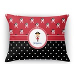 Girl's Pirate & Dots Rectangular Throw Pillow (Personalized)