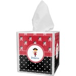 Girl's Pirate & Dots Tissue Box Cover (Personalized)