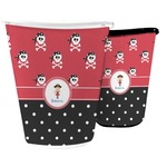 Girl's Pirate & Dots Waste Basket (Personalized)
