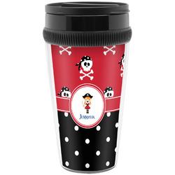 Girl's Pirate & Dots Travel Mug (Personalized)