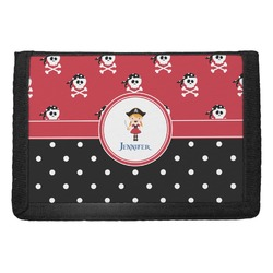 Girl's Pirate & Dots Trifold Wallet (Personalized)