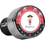 Girl's Pirate & Dots USB Car Charger (Personalized)