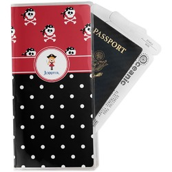 Girl's Pirate & Dots Travel Document Holder